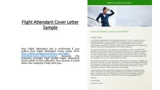 Flight Attendant Cover Letter Sample
