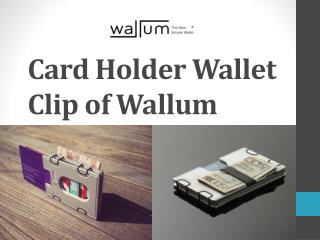 Card Holder Wallet Clip of Wallum