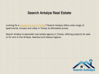 Search Antalya Real Estate
