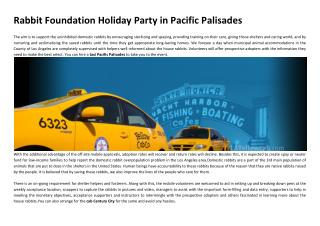 Rabbit Foundation Holiday Party in Pacific Palisades