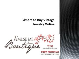 Where to Buy Vintage Jewelry Online