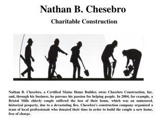 Nathan B. Chesebro Charitable Construction