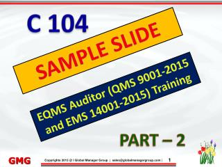 EQMS Auditor Training