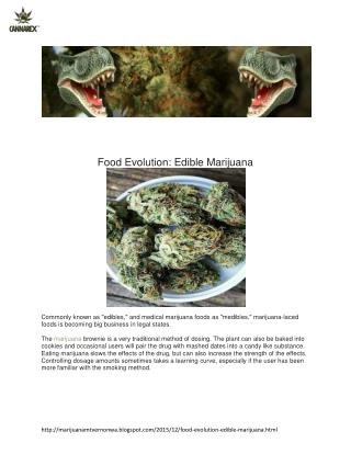 Food Evolution: Edible Marijuana