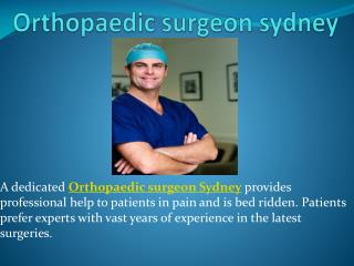 Orthopaedic surgeon sydney, Knee reconstruction, Total knee replacement