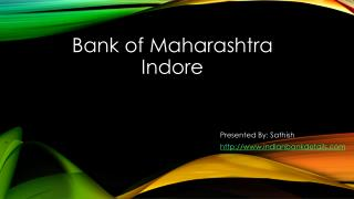 IFSC code for Bank of Maharashtra Indore