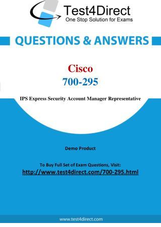Cisco 700-295 Exam Questions