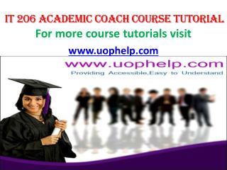IT 206 Academic Coach/uophelp