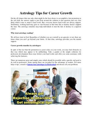 Astrology Tips for CareerGrowth