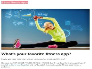 5 Top Fitness Apps 2015 - MyTrainerFitness.Com