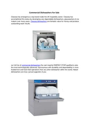 Commercial Dishwashers For Sale