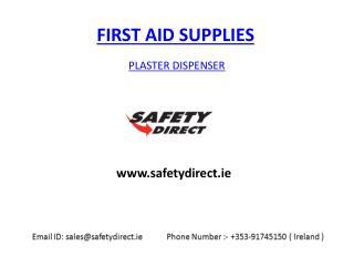 Plaster Dispenser in Ireland at safetydirect.ie
