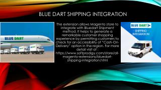 Blue Dart Shipping Integration