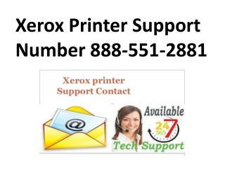 Xerox Printer Support Phone Number 888-551-2881