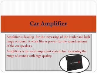 Car Amplifier Online In India