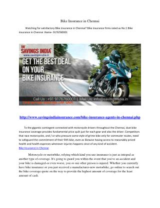 Bike Insurance in Chennai