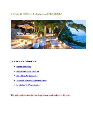 Taxi from airport seychelles transfer Services hotels