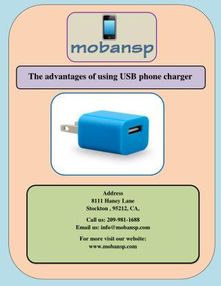 The advantages of using USB phone charger