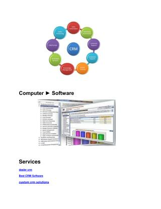 web based custom Best CRM Software solutions online lead management