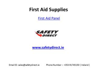 Standard First Aid Panel in Ireland at SafetyDirect.ie