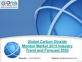 Global Carbon Dioxide Monitor  Industry - Orbis Research