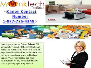 Canon Contact Number 1-877-776-4348