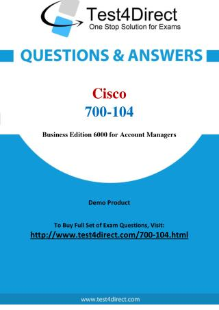 Cisco 700-104 Specialist Real Exam Questions