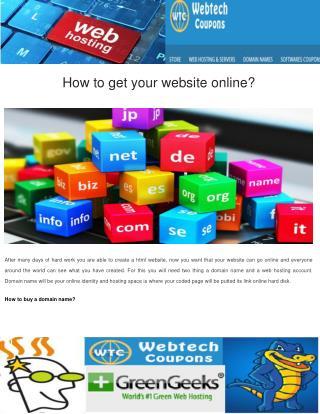 How to Get Your website Online