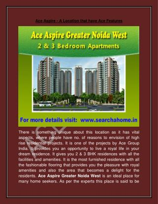 Ace Aspire - A Location that have Ace Features
