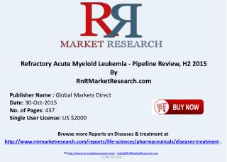 Refractory Acute Myeloid Leukemia Pipeline Review H2 2015