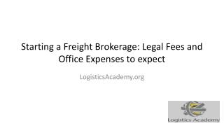Total Cost of Starting a Freight Brokerage  LogisticsAcademy.org
