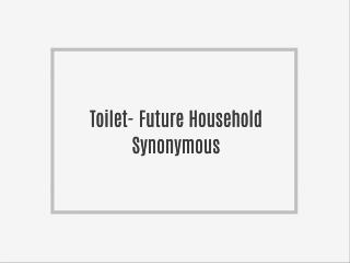 Toilet- Future Household Synonymous