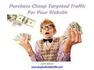 Buy Cheap Targeted Website Traffic