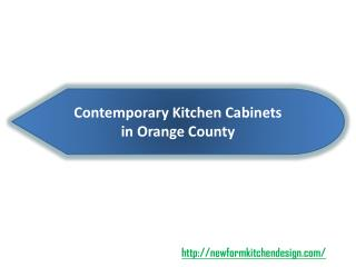 Contemporary Kitchen Cabinets in Orange County