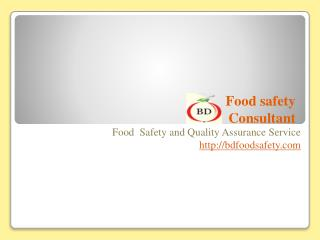 BD Food Safety providing training and certification with different food safety courses.