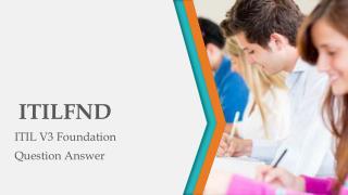 Pass4sure ITILFND Question