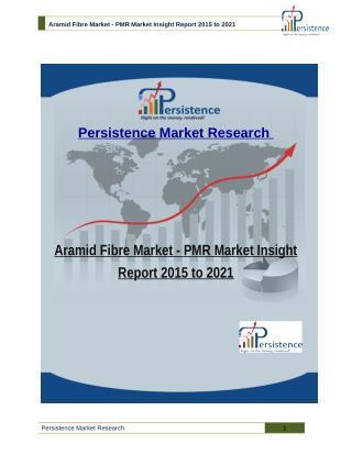 Aramid Fibre Market: PMR Market Insight Report 2015 to 2021
