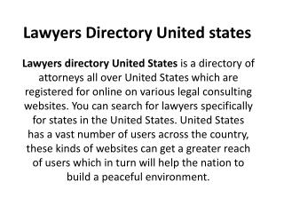 Lawyers directory united states