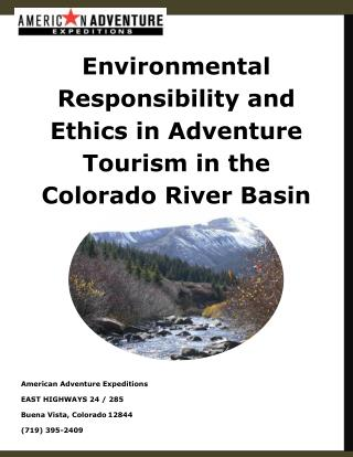 Environmental Responsibility and Ethics in Adventure Tourism in the Colorado River Basin