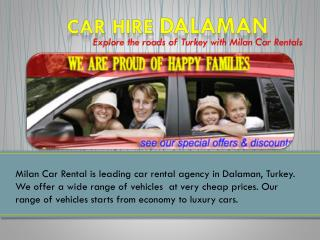 Car Rental Dalaman Airport