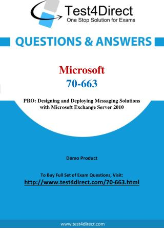 70-663 Microsoft Exam - Updated Questions