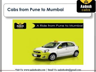 Cabs from Pune to Mumbai | Aadesh Cabs