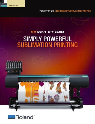 Roland Texart XT-640 Dye Sublimation Printer by PrintFinish.com