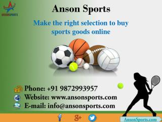 Make the right selection to buy sports goods online