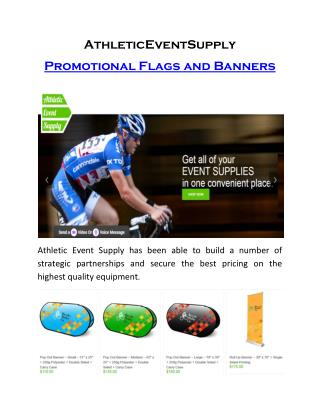 AthleticEventSupply- Promotional Flags and Banners