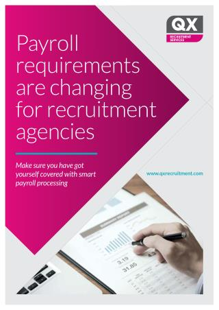 Payroll requirements are changing for recruitment agencies