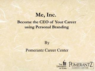 Personal Branding - Become the CEO of Your Career using Personal Branding