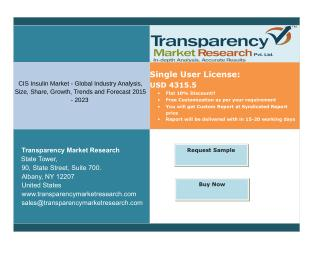 CIS Insulin Market - Global Segments and Forecasts up to 2023: Transparency Market Research