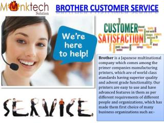 Brother Customer Service 1-877-776-4348