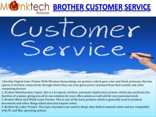 Brother Customer Service Toll Free 1-877-776-4348